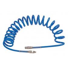 Шланг пневматический спиральный высокого давления 10х15 мм, 15 м, М3/8