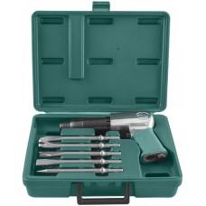 Набор молоток пневматический Jonnesway JAH-6833HK 2100 уд/мин., патрон H10, с насадками, 8 предметов