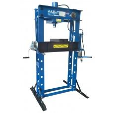 Пресс гидравлический AE&T T61250A (50т) с ручным и пневмоприводом