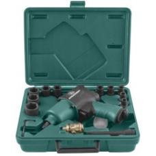 Ударный пневмогайковерт JonnesWay JAI-1044K с набором торцевых головок (17 предметов)