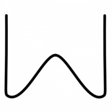 Скоба с внутренним углом 0.6 мм (100 шт.)