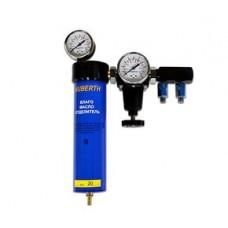 Фильтр воздушный влагомаслоотделительный одноступенчатый с редуктором Huberth